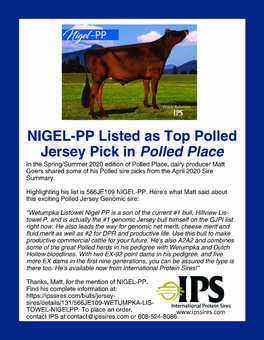 566JE109 NIGEL-PP Polled Place