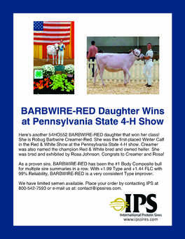 Barbwire-Red Wins Class at Pennsylvania 4-H Show