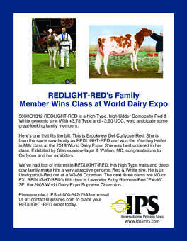 REDLIGHT-RED Family Member at World Dairy Expo